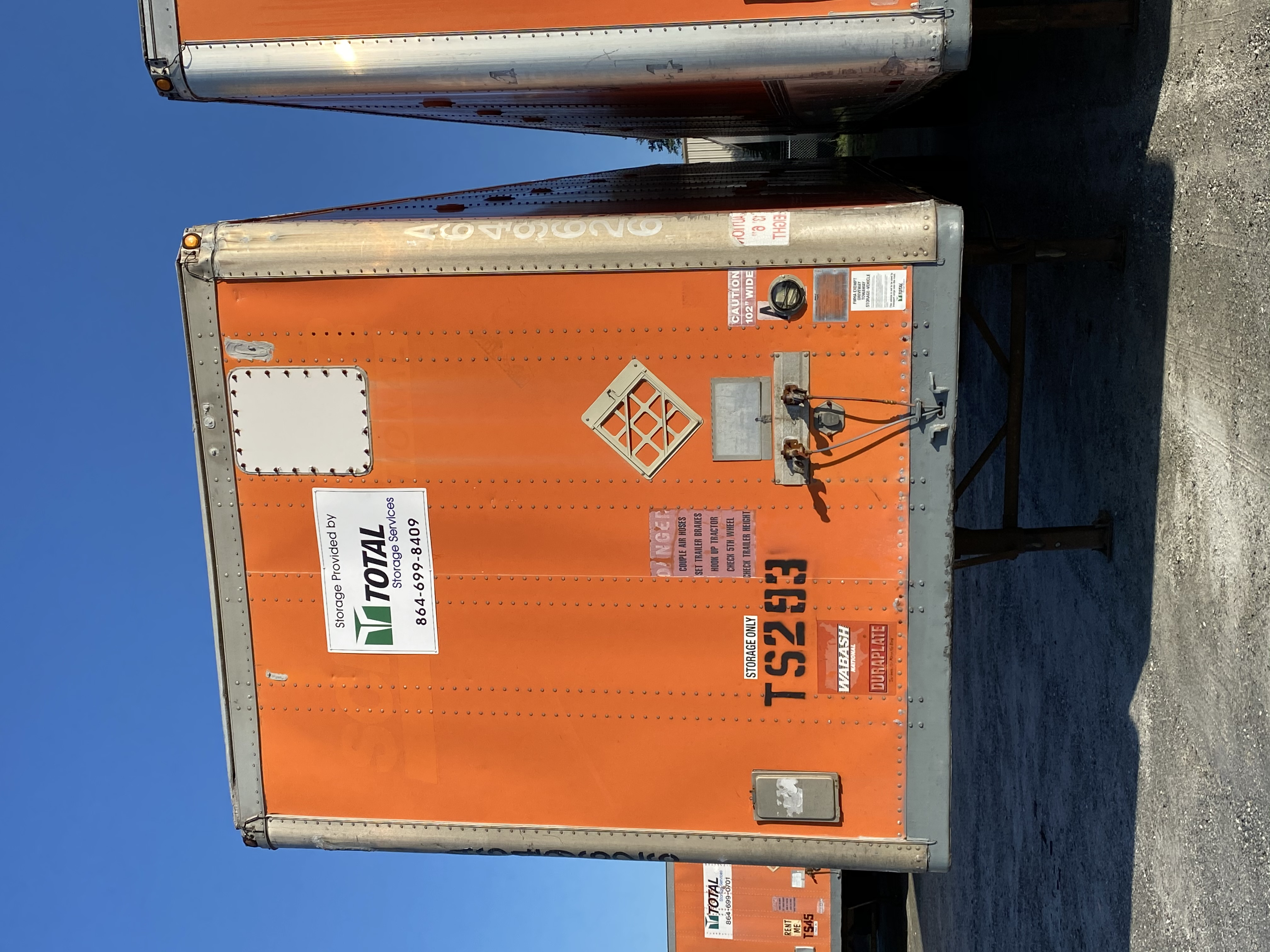 Orange storage container rental